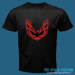 Firebird Red - Men Black Tee (TSC)