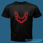Firebird Red - Men Black Tee (TSC)