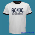 AC DC Back in Black - For Ringer Tee (TSC)