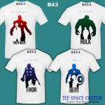 B43 - Avenger Silhouette - White Tee (TSC)