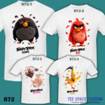 B72 - Angry Bird Movie - White Tee (TSC)