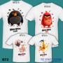 B72 - Angry Bird Movie - White Tee (TSC)