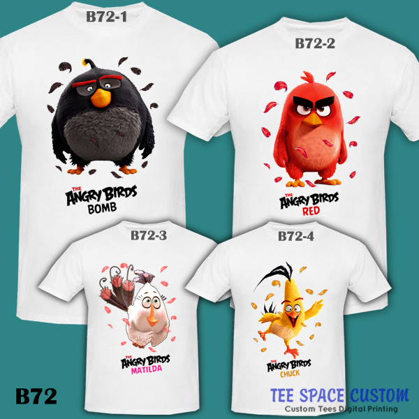The Angry Birds Movie 2016 Red Chuck Bomb Matilda White T Shirt