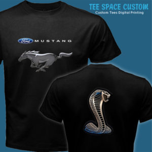 Ford Mustang 3rd Art - Men Black Tee (TSC)