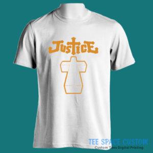 Justice Cross 2nd Art - Men White Tee (TSC)