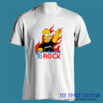 Never Too Old to Rock - Men White Tee (TSC)