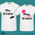 B26 - Mr & Mrs Right - White Tee (TSC)