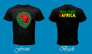 Lion for Africa 1st Art - For Black Tee Post