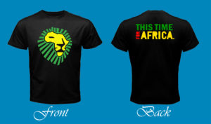 Lion for Africa 3rd Art - For Black Tee Post
