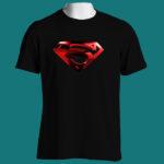 SUPERMAN SHIELD - 1st ARTWORK - Black Tee