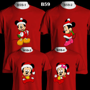 b59-mickey-minnie-santa-family-color-tee