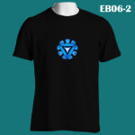 EB06-2 - Arc Reactor - Black Tee (E)
