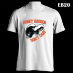 EB20 - Honey Badger - White Tee (E)
