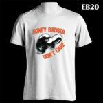 EB20 - Honey Badger - White Tee (E)