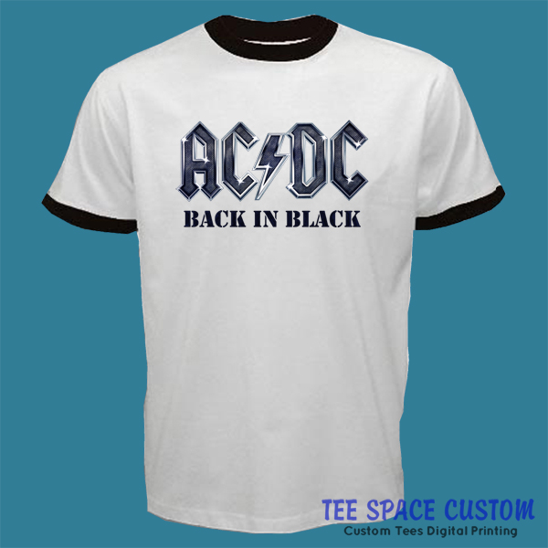 3dcf54a22fac AC/DC Hard Rock or Bust Band Back In Black AC DC Ringer T-Shirt ...