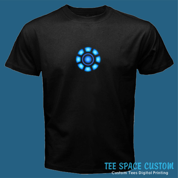 96d9e0e63 ARC REACTOR The Avengers Iron Man Tony Stark Black T-Shirt