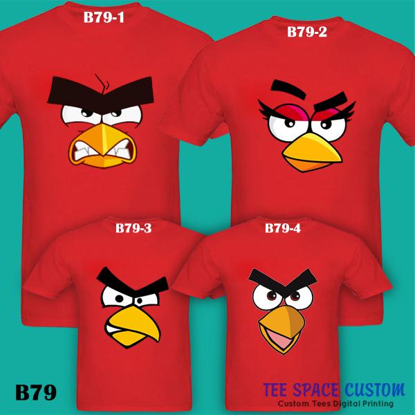 cb84b23e The ANGRY BIRDS Red Bird Flock Shot Couple | Family Color T-Shirt ...