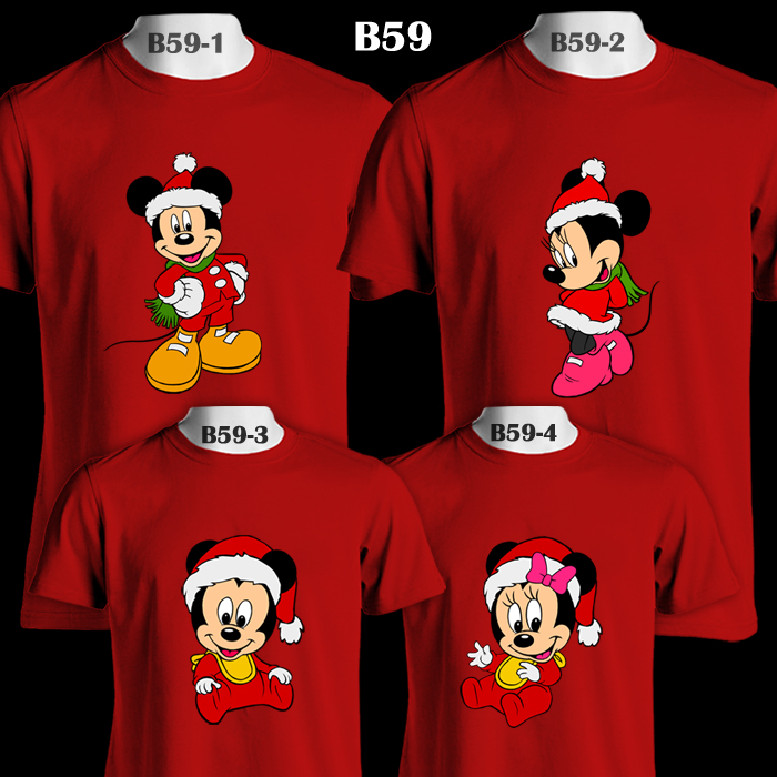 c93403f3 Mickey & Minnie Mouse Santa Suit Family Christmas | Color T-Shirt ...