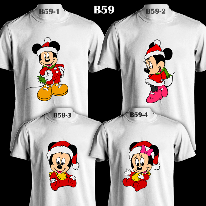 72a37820 Mickey & Minnie Mouse Santa Suit Family Christmas | White T-Shirt ...