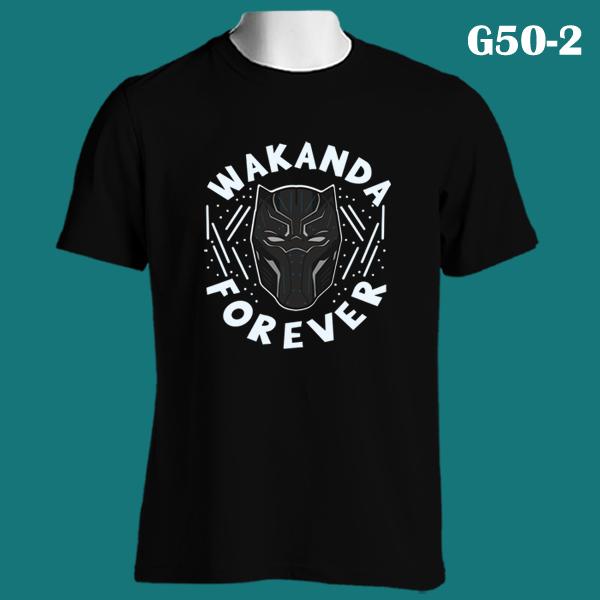Wakanda Forever Black Panther Custom Mens Gildan T-Shirt Long Sleeve Tee New
